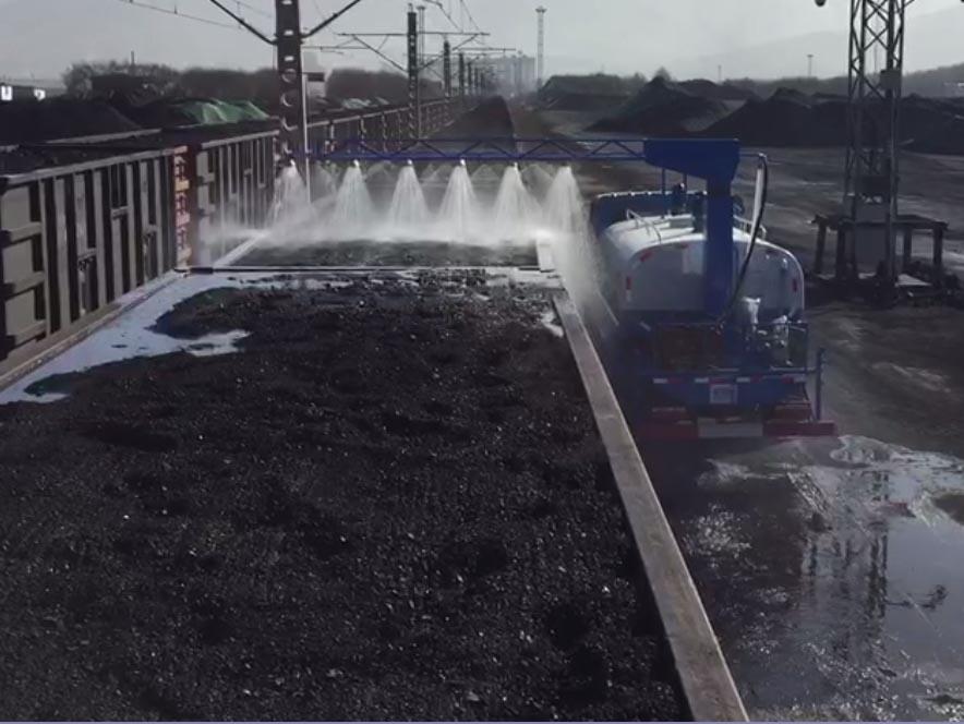 鐵路專用抑塵劑噴灑車使用案例